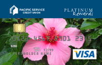 visa card with flower